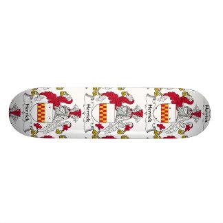 Herrick Family Crest Custom Skate Board