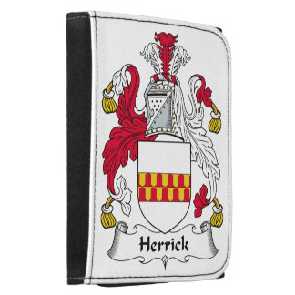 Herrick Family Crest Leather Trifold Wallet