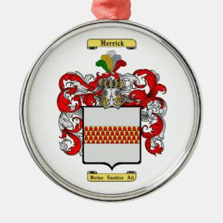Herrick Silver-Colored Round Decoration