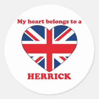 Herrick Round Stickers