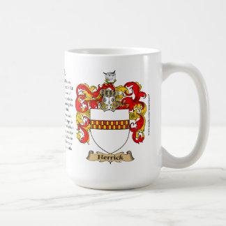 Herrick, the Origin, the Meaning and the Crest Basic White Mug