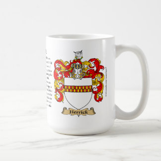 Herrick, the Origin, the Meaning and the Crest Coffee Mug