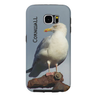 Herring Gull Charlestown Harbour Cornwall England Samsung Galaxy S6 Cases