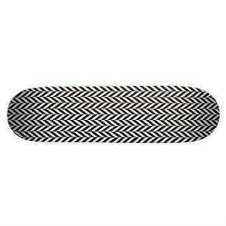 HERRINGBONE (a black & white design) ~ 18.1 Cm Old School Skateboard Deck