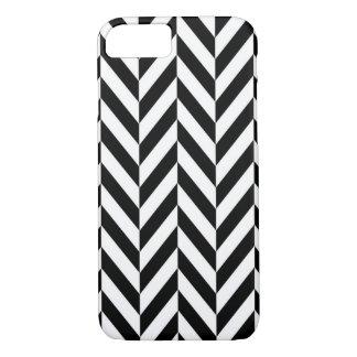HERRINGBONE (a black & white design) ~ iPhone 7 Case