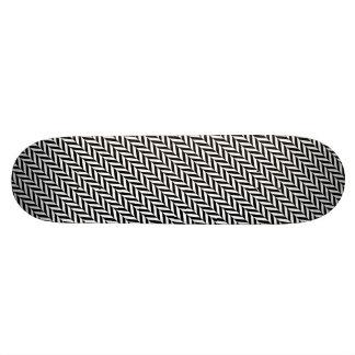 HERRINGBONE (a black & white design) ~ Skateboard