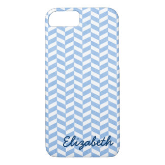 Herringbone Blue White Beach Colors Custom iPhone 7 Case