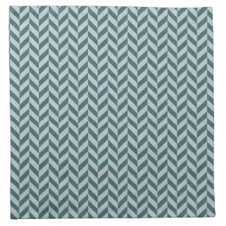 Herringbone Chevrons Pattern in Shades of Blue Napkin