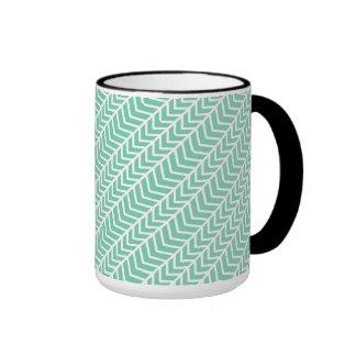 Herringbone/Fishnet 15 oz Ringer Mug