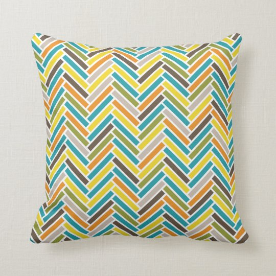 Herringbone Throw Pillow | {Multi}