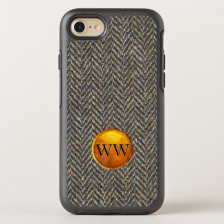 Herringbone Tweed Cool Custom Monogram Classic OtterBox Symmetry iPhone 7 Case