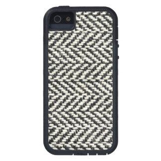 Herringbone Tweed Rustic Black White Knit Print iPhone 5/5S Cover