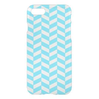 Herringbone White Bright Blue Summer Mod Pattern iPhone 7 Case