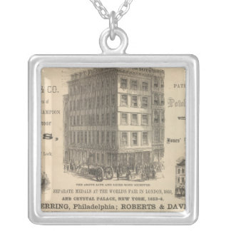 Herring's Patent Champion Safes Silver Plated Necklace
