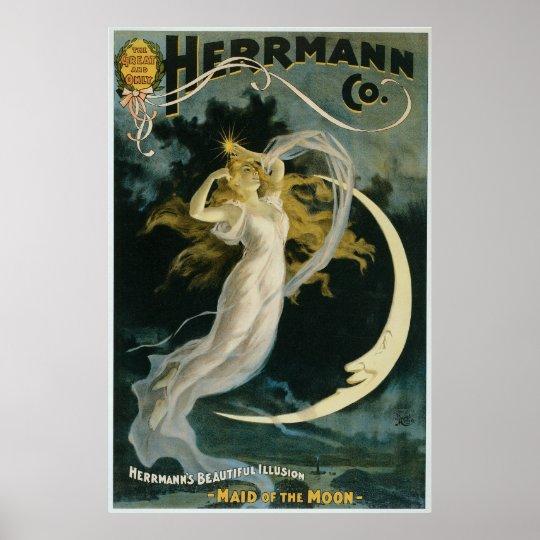 Herrmann ~ Maid of the Moon Vintage Magician