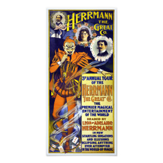 Herrmann the Great 1898 Vintage Poster Restored Photo Print