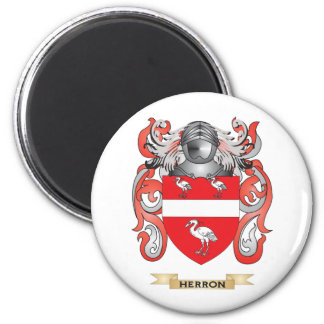 Herron Coat of Arms (Family Crest) 6 Cm Round Magnet