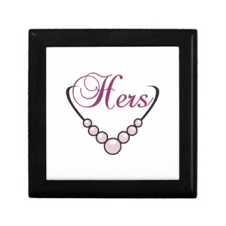Hers Necklace Small Square Gift Box