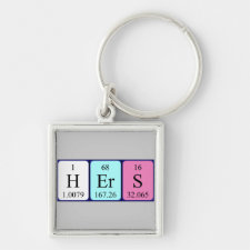 Hers Periodic table keyring