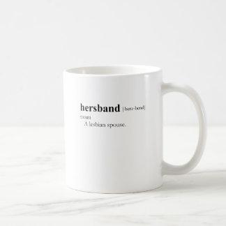 HERSBAND BASIC WHITE MUG