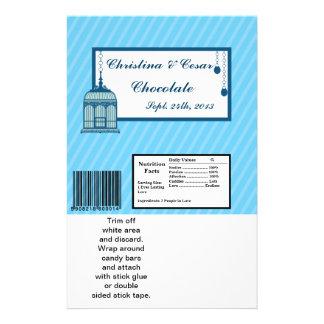Hershey s Large Bar Wrapper Birdcage Blue Stripes Flyer Design