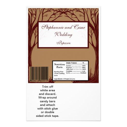 Hershey's Large Bar Wrapper Autumn Tree Custom Flyer