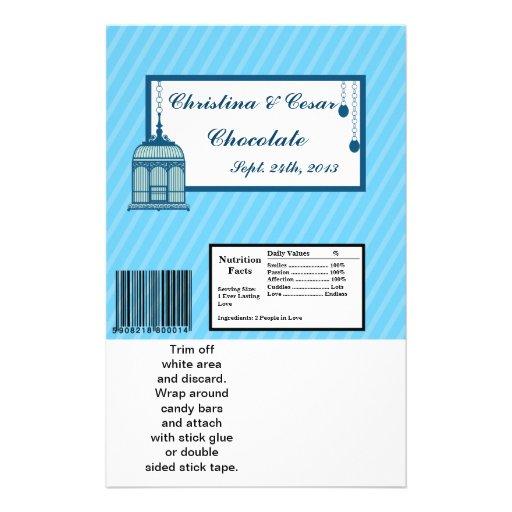 Hershey's Large Bar Wrapper Birdcage/Blue Stripes Flyer Design