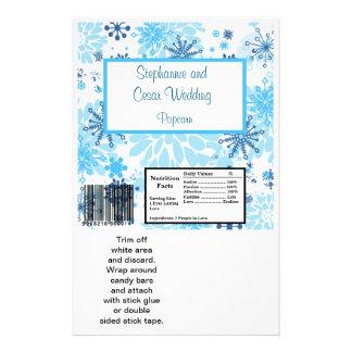 Hershey's Large Bar Wrapper  Blue Tree / Snowflake 14 Cm X 21.5 Cm Flyer