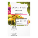 Hershey's Large Bar Wrapper Hawaiian Exotic Flower Personalised Flyer