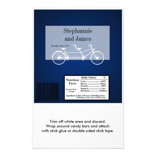 Hershey's Large Bar Wrapper Navy Blue Double Bike Custom Flyer