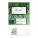Hershey's Large Bar Wrapper Peacock Green Feathers Personalized Flyer