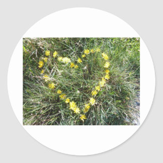Herz aus Blumen Runder Aufkleber