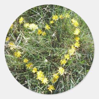 Herz aus Blumen Sticker