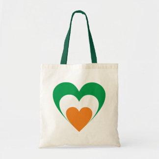 Herz Irland heart Ireland Tragetasche