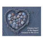 Herz, Sand, Muschel - heart, sand, shell Postkarte