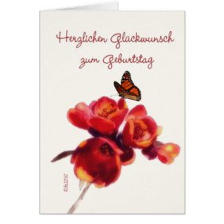 herzlichen Glückwunsch zum Geburtstag Greeting Card
