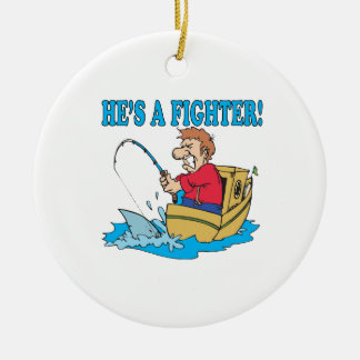 Hes A Fighter Christmas Ornament