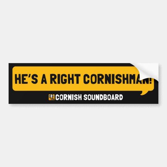 He's a Right Cornishman! A Cornish Soundboard Bump