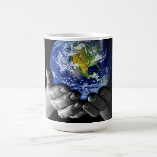 He's got the whole world in his hands......... basic white mug