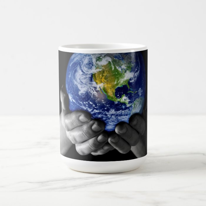 He's got the whole world in his hands......... coffee mug