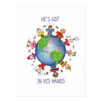 He's Got the Whole World in His Hands Postcard