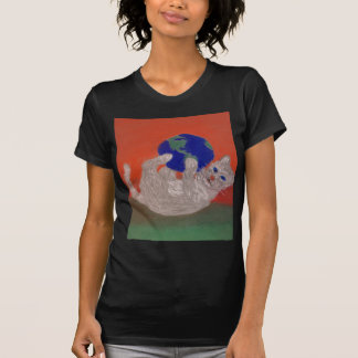 He's Got the Whole World in His Paws T-shirts