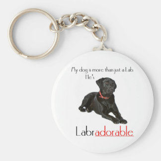 He's Labradorable Basic Round Button Key Ring