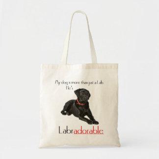 He's Labradorable Tote Budget Tote Bag