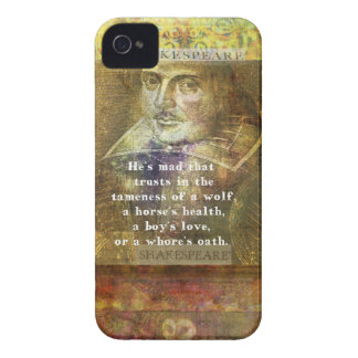 He's mad that trusts in the tameness of a wolf iPhone 4 cases