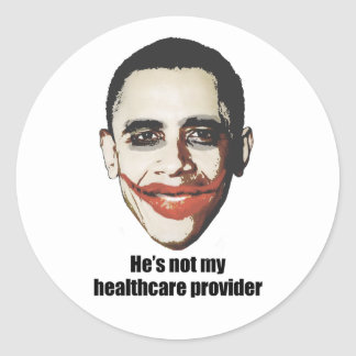 He's not my healthcare provider sticker