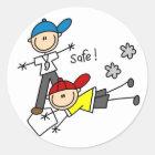 He's Safe Baseball Sticker
