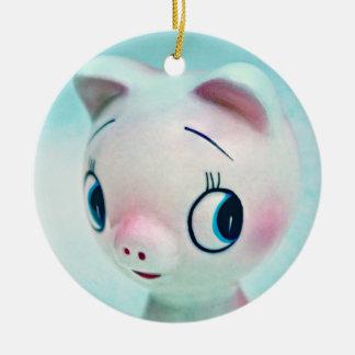 He's Such a Pig Round Ceramic Decoration
