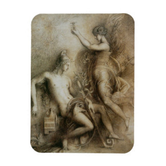 Hesiod and Muse Art by Gustave Moreau Rectangle Magnet