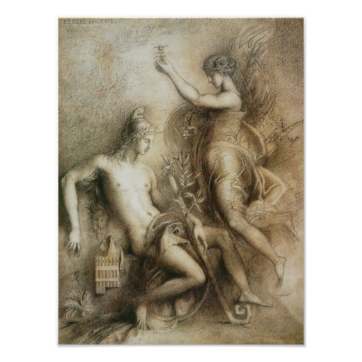 Hesiod and Muse by Gustave Moreau Photo Print